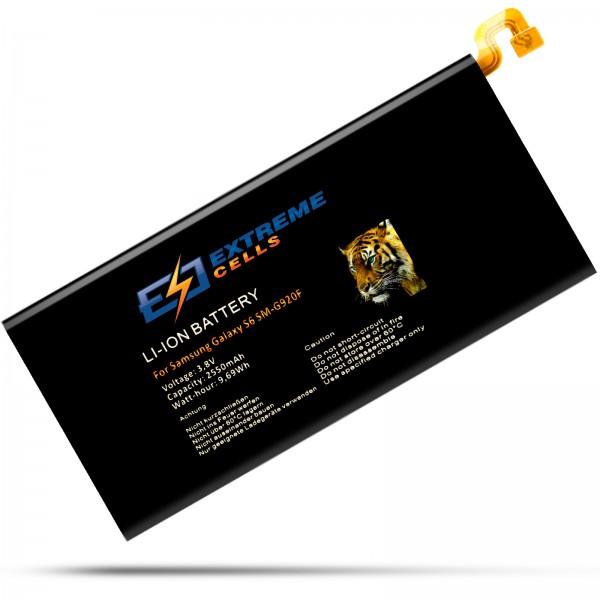 Extremecells Akku für Samsung Galaxy S6 SM-G920F EB-BG920ABE