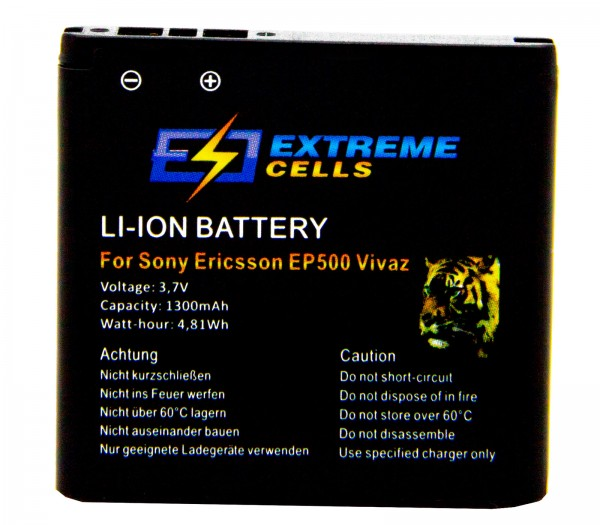 Extremecells Akku für Sony Ericsson Live mit Walkman WT19a EP500 Batterie Accu