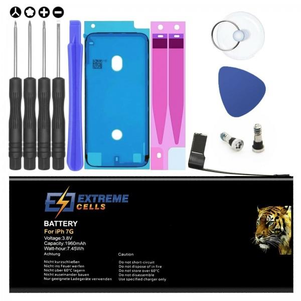 Extremecells Akku inkl. Werkzeug für Apple iPhone 7 Batterie Accu Battery