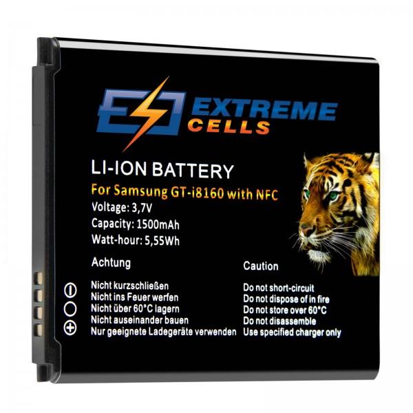 Extremecells Akku für Samsung Galaxy S3 mini GT-i8190 mit NFC Antenne Batterie