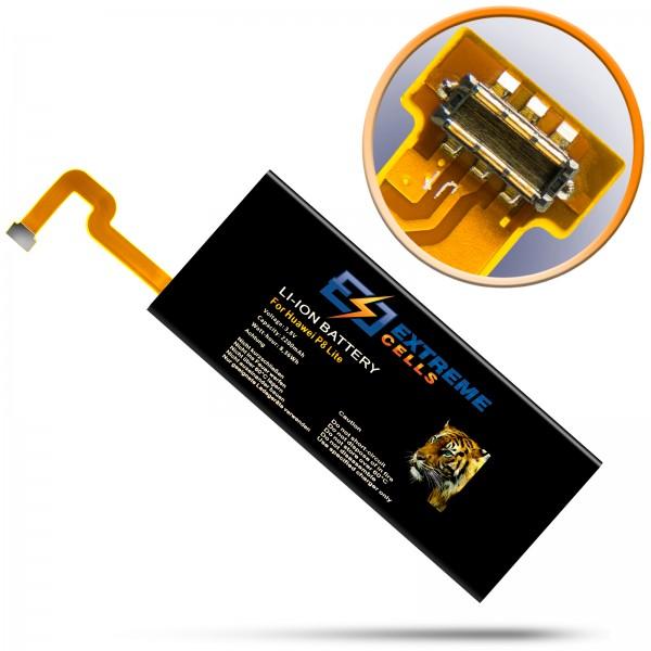 Extremecells Akku für Huawei P8 Lite Batterie Accu HB3742A0EZC