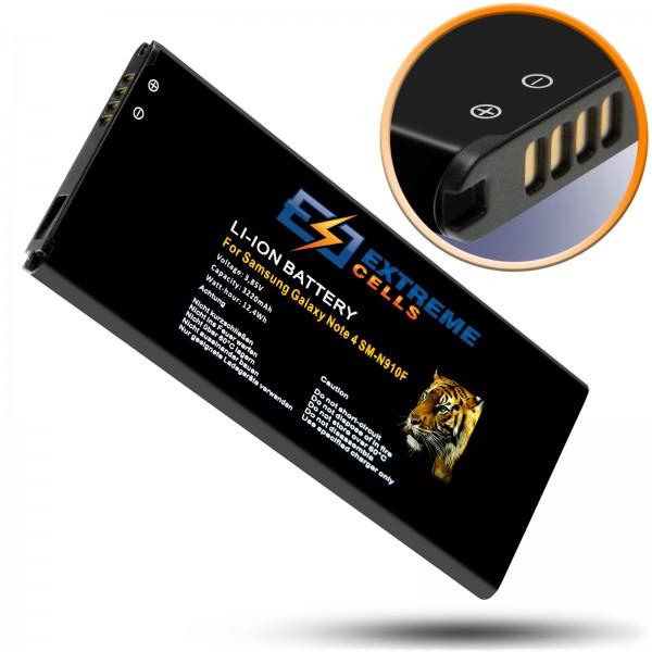 Extremecells Akku für Samsung Galaxy Note 4 SM-N910F wie EB-BN910B Batterie