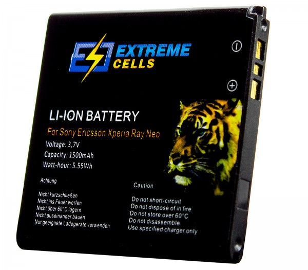 Extremecells Akku für Sony Xperia tipo ST21i BA700 Accu Battery Batterie
